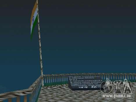 Indische fahne auf dem mount Chilliad für GTA San Andreas