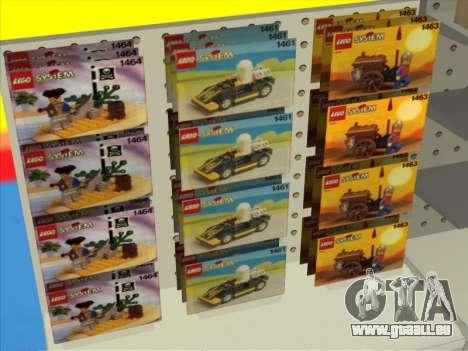 La boutique LEGO pour GTA San Andreas troisième écran