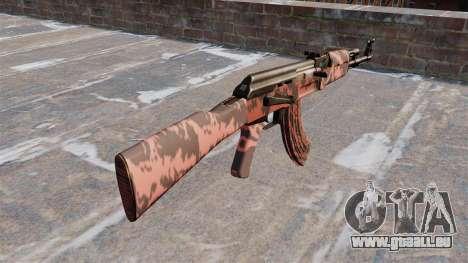 Die AK-47 Roten tiger für GTA 4 Sekunden Bildschirm