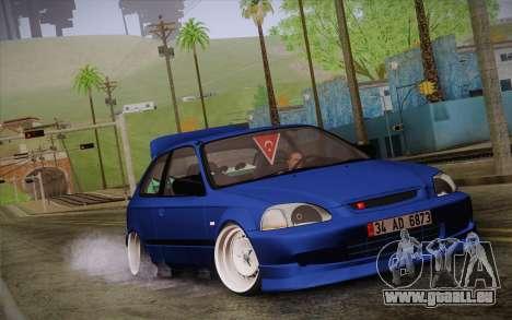 Honda Civic 1.4 BS Garage pour GTA San Andreas