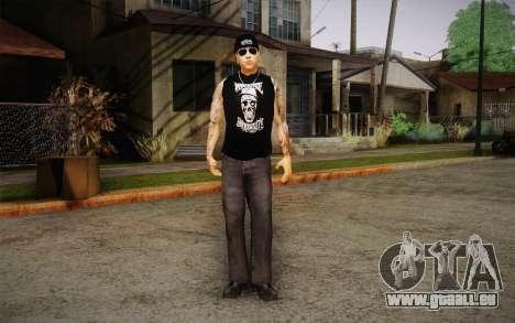 M. Shadows Skin für GTA San Andreas zweiten Screenshot