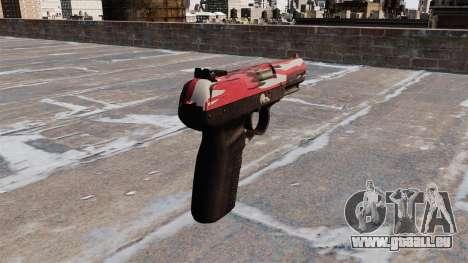 Pistolet FN Five-seveN urban Rouge pour GTA 4 secondes d'écran