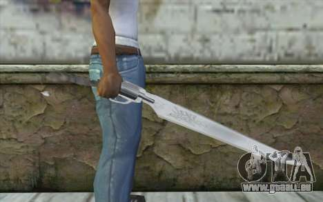 Squalls GunBlade pour GTA San Andreas troisième écran