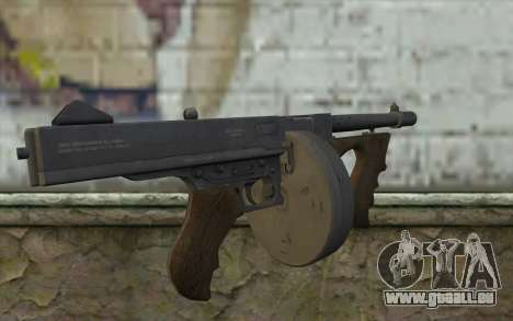 Maschine Thompson (Laub Bedeckt Abenteuer) für GTA San Andreas zweiten Screenshot