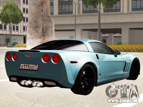 Chevrolet Corvette Grand Sport pour GTA San Andreas sur la vue arrière gauche