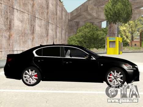 Lexus GS350F Sport für GTA San Andreas zurück linke Ansicht