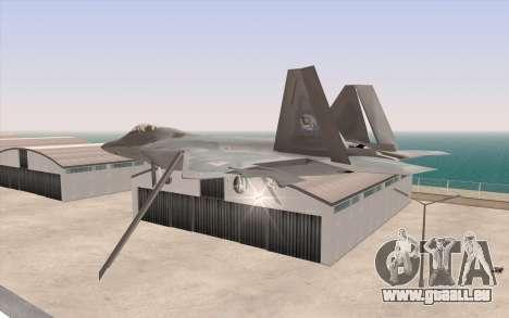 F-22 Raptor pour GTA San Andreas laissé vue
