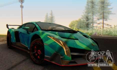 Lamborghini LP750-4 2013 Veneno Blue Star pour GTA San Andreas vue arrière