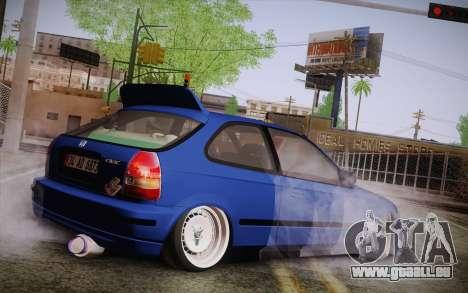 Honda Civic 1.4 BS Garage pour GTA San Andreas laissé vue
