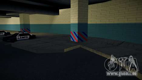 Nouveau garage LSPD pour GTA San Andreas troisième écran
