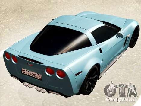 Chevrolet Corvette Grand Sport pour GTA San Andreas vue de droite