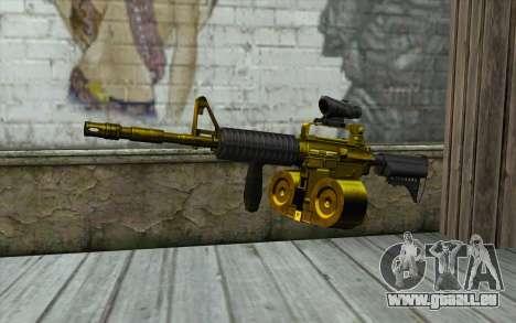 Golden M4 mit einem shop für GTA San Andreas