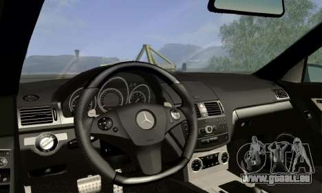 Mercedes-Benz C63 AMG für GTA San Andreas Rückansicht