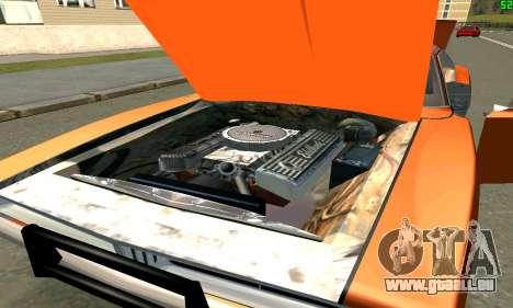 Dodge Charger General lee pour GTA San Andreas vue de droite