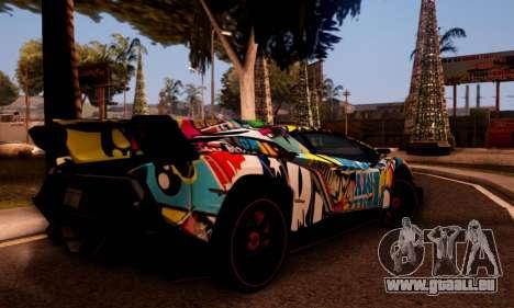Lamborghini LP750-4 2013 Veneno Stikers Editions für GTA San Andreas Rückansicht