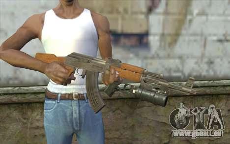 AK47 with GP-25 pour GTA San Andreas troisième écran