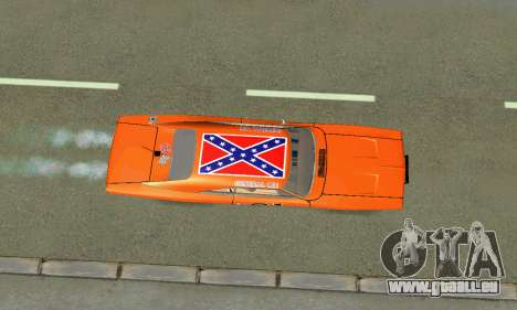 Dodge Charger General lee pour GTA San Andreas vue intérieure