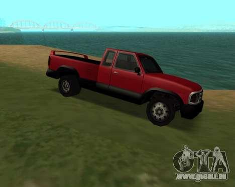 Nouveau Pick-Up pour GTA San Andreas sur la vue arrière gauche
