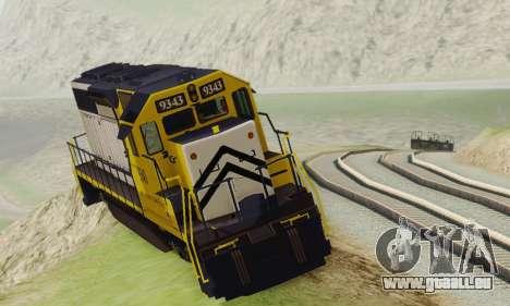 GTA V Trem 2 pour GTA San Andreas sur la vue arrière gauche