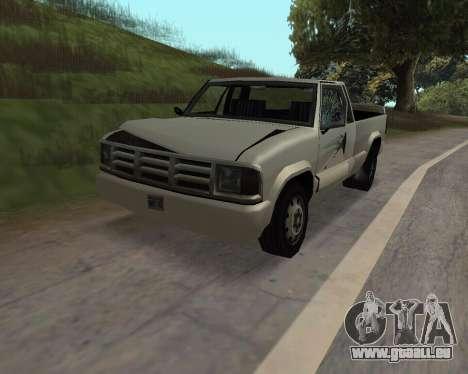 Nouveau Pick-Up pour GTA San Andreas vue arrière