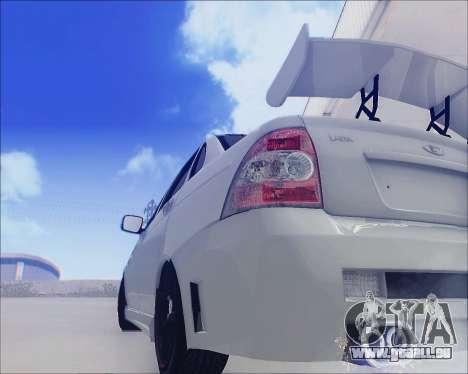Lada 2170 Priora Tuneable für GTA San Andreas Unteransicht