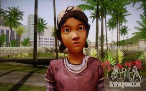 Clémentine из The Walking Dead pour GTA San Andreas troisième écran
