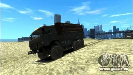 KamAZ 43114 Côté pour GTA 4