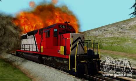 GTA V Trem pour GTA San Andreas vue intérieure
