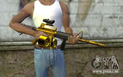 Golden M4 mit einem shop für GTA San Andreas dritten Screenshot