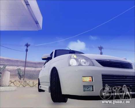 Lada 2170 Priora Tuneable pour GTA San Andreas vue de côté