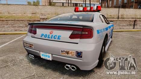 GTA V Bravado Buffalo NYPD für GTA 4 hinten links Ansicht
