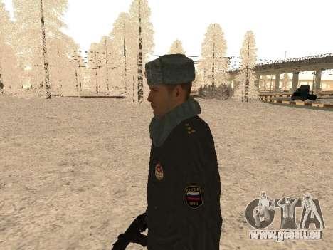 Un capitaine de police pour GTA San Andreas deuxième écran