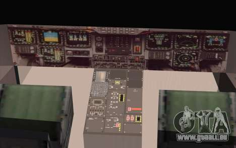 B-2 Spirit für GTA San Andreas zurück linke Ansicht