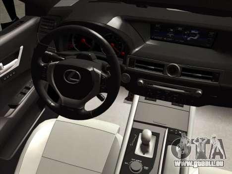 Lexus GS350F Sport für GTA San Andreas Innenansicht