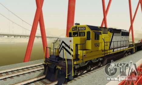 GTA V Trem 2 pour GTA San Andreas vue arrière