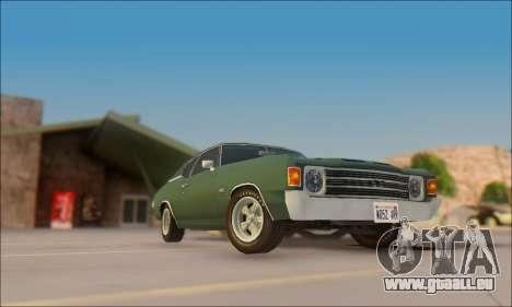 Chevrolet Chevelle SS 454 1971 für GTA San Andreas zurück linke Ansicht