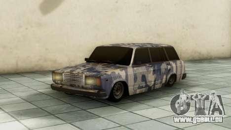 VAZ 2104 In camouflage für GTA San Andreas zurück linke Ansicht