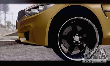 BMW M4 F80 Stanced für GTA San Andreas zurück linke Ansicht