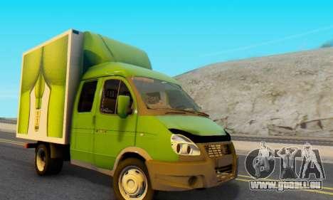 33023 GAZelle pour GTA San Andreas laissé vue