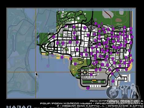 Tags Map Mod v1.0 für GTA San Andreas