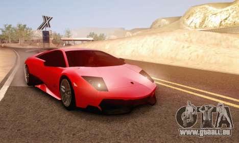Lamborghini Murcielago LP670-4 SV pour GTA San Andreas vue de dessus