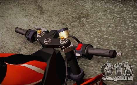 Ninja ZX6R Stunt Setup für GTA San Andreas Rückansicht