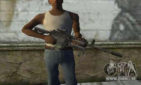 M4A1 из COD Modern Warfare 3 pour GTA San Andreas troisième écran
