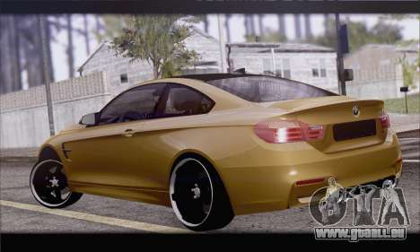 BMW M4 F80 Stanced für GTA San Andreas linke Ansicht