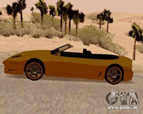 Super GT Cabriolet pour GTA San Andreas laissé vue