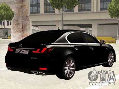 Lexus GS350F Sport für GTA San Andreas rechten Ansicht