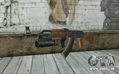 AK47 with GP-25 pour GTA San Andreas