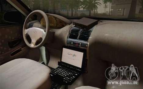 Hyundai Polis TR pour GTA San Andreas vue intérieure