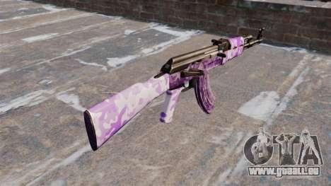 L'AK-47 Violet camo pour GTA 4 secondes d'écran