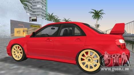 Subaru Impreza WRX STI 2005 pour GTA Vice City vue de dessous